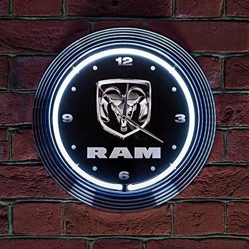 ram-neon-clock-240v-3-prong-uk-plug-by-dodge-ram-truck