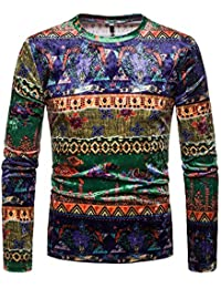 BUSIM Men's Long Sleeve Sweater Autumn Winter Casual Pullover Trend Personality Print O-Neck Slim Fashion Sweatshirt... - B07HKH7LTD