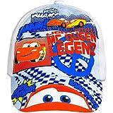 5087 Kinder Cap Basecap Baseball Cap Kappe CARS McQueen f. Jungen (weiß, 48cm)