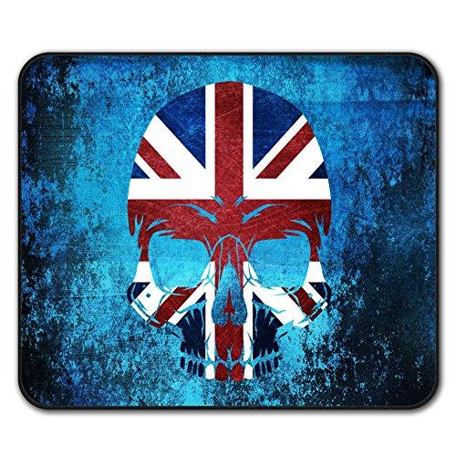 (Schädel Metall Flagge Tod Vereinigtes Königreich Mouse Mat Pad, Unheimlich Rutschfeste Unterlage - Glatte Oberfläche, verbessertes Tracking, Gummibasis von Wellcoda)
