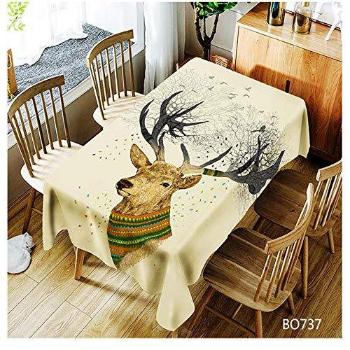 QWEASDZX Tischdecke Einfache und Moderne Polyester Bohemia Antifouling Ölbeständige rechteckige Tischdecke Geeignet für Innen und Außen Wiederverwendbare Mehrzwecktischdecke 150x210cm