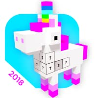 Unicorn 3D Color By Numbers : VOXEL Coloring