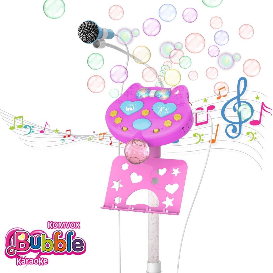 Regali Di Natale Bimbo 7 Anni.Komvox Bambini Karaoke Microfono Bolla Macchina Microfono Canta Tu