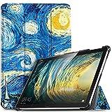 IVSO Hülle für Huawei MediaPad M5 Lite 10, Ultra Schlank Slim Schutzhülle Hochwertiges PU mit Standfunktion Perfekt Geeignet für Huawei MediaPad M5 Lite 10 10.1 Zoll 2018 Modell, Blue Sky
