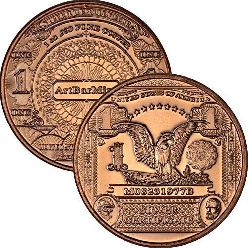 Jig Pro Shop Banknoten-Serie, 28 ml, 999 reines Kupfer, 1 Black Eagle -