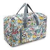 50L Faltbare Wasserdicht Duffle Bag Reisetasche Aufbewahrungstasche Gepäcktasche für Reisen Urlaub Aufbewahrung
