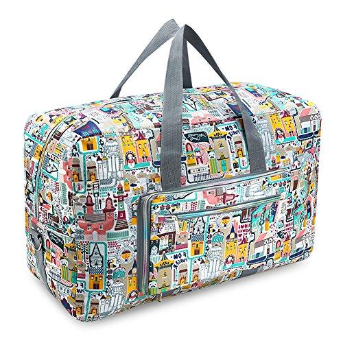 PELLOR 50L Faltbare Wasserdicht Duffle Bag Reisetasche Aufbewahrungstasche Gepäcktasche für Reisen Urlaub Aufbewahrung