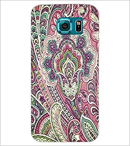 PrintDhaba Pattern D-2137 Back Case Cover for SAMSUNG GALAXY S6 (Multi-Coloured)
