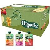 Organix Knijpfruit Maandbox (12+ mnd) - 30 st. - Biologisch - Fruithapjes met Graan - Geen Toegevoegde Suiker