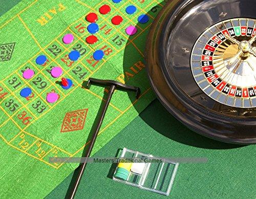 Roulette & Blackjack eingestellt - 40cm. Rad, 00612