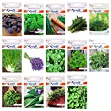 #6: Kraft Seeds Garden Essentials Herbs Seeds Easy to grow & high germination rate - 14 Varieties of Heirloom, Non-GMO Herbs Seeds - Basil, Basil Purple, Oregano, Sage, Thyme, Rocket, Chives, Lavender, Nasturtium, Parsley, Cilantro, Dill, Tulsi and Fennel