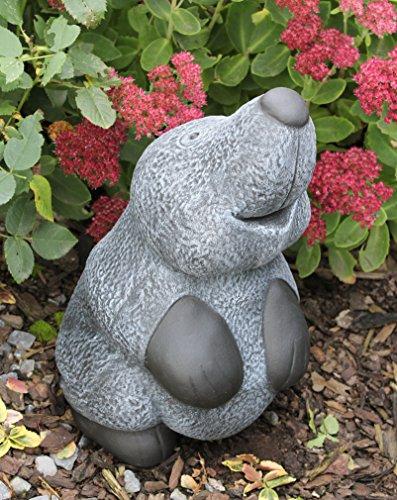 Steinfigur Maulwurf groß - Schiefergrau, Garten, Deko, Stein, Figur, Frostsicher