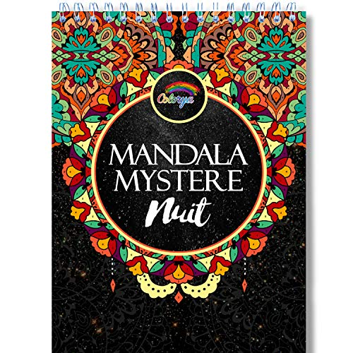 Livre De Coloriage Adulte Fond Noir Coloriage Mystere Mandala