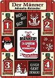 Weihnachtskarte mit Kräuterlikör als witziges Weihnachtsgeschenk mit Schnaps harzer Likör zum verschenken (Männer Advents- Kalender 22123)