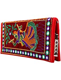 Craft Trade Handmade Designer Embroiderey Rajasthani Clutch Bags For Women And Girls