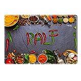 Tischset mit Namen ''Ralf'' Motiv Chili - Tischunterlage, Platzset, Platzdeckchen, Platzunterlage, Namenstischset