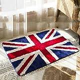 Luxbon Alfombra Lisa Decorativa para Sala Dormitorio Baño Bandera de UK