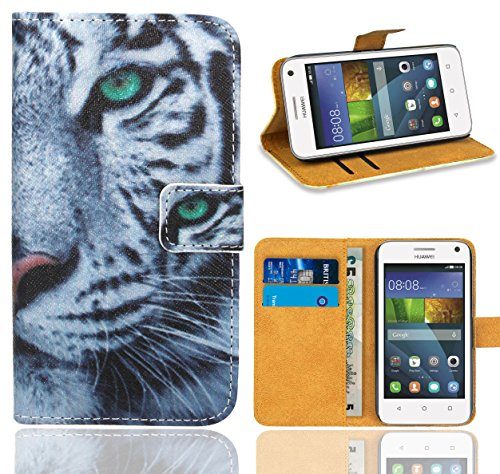 Huawei Y3 Handy Tasche, FoneExpert® Wallet Case Flip Cover Hüllen Etui Ledertasche Lederhülle Premium Schutzhülle für Huawei Y3 (Pattern 6)
