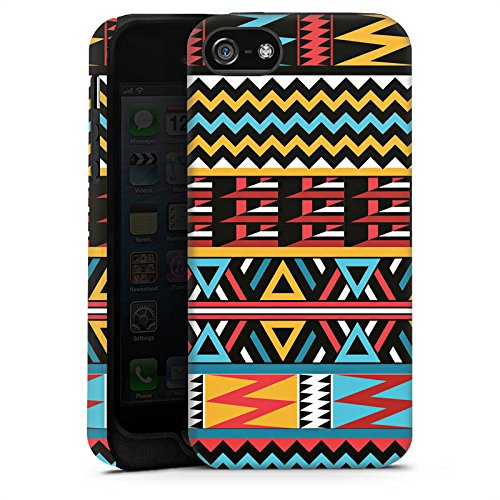 Apple iPhone X Silikon Hülle Case Schutzhülle Ethno Style Muster Tribal Tough Case matt