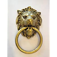 A & Y Traders Kings and Queens Brass Item Statue Lion Door Knocker (Gold, 13.5 cm X12.5 cm)
