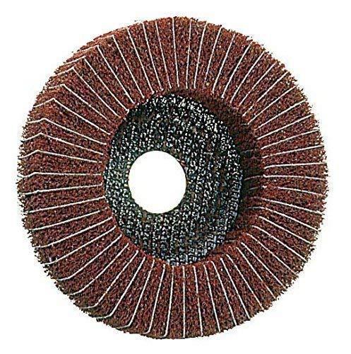 Kombi-Polierscheibe 125 x 22,2 Vlies/Leinen , 3 Körnungen , für Metall , Vliesscheibe, Schleifscheibe (Korn sehr fein) -