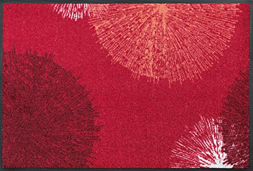wash+dry Fußmatte, Acryl, Rot, 50x75 cm -