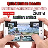 Gelenk 1 Paar Handy Mobile Gaming Trigger Fire Button Griff für L1R1 Shooter Controller pubg Universal für iPhone/Samsung/OnePlus/Huawei/ZTE/PC/iPad Android IOS Tablet