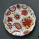 YUWANW Keramische Platte blühen Blumenkasten Gericht Hauptdekoration Gericht westliches Essen gebraten Tablett Essen