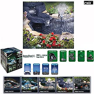 """sicce happy pond kit 4 """"all in on"""" new ultra complete flexible pond made in italy (capacity: 550 lt /145 us gal) Sicce Happy Pond KIT 4 """"All in On"""" New Ultra Complete Flexible Pond made in Italy (Capacity: 550 Lt /145 US Gal) 61UfQnsHs L"""