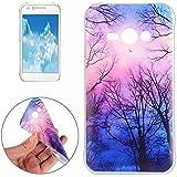 Housse Etui Coque Pour Samsung Galaxy J1 Ace / J110, étui protecteur TPU pour les yeux et les mots ( SKU : SAS9439H )
