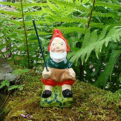 FISHING GNOME ~ TOBY ~ SITTING FISHERMAN