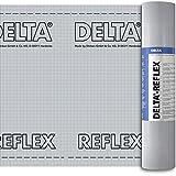 Dörken Delta Reflex Luft- und Dampfbremse 1,50 x 50 m Dampfsperrfolie für alle Dach-Ausbauten innen und außen mit dem Sd-Wert von ca. 150 m