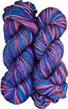 M.G Tango Multi Voilet Wool Hand knitting wool / Art Craft soft fingering crochet hook yarn, needle Acrylic knitting yarn thread dyed 200 gm