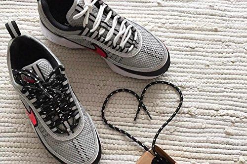 Tennis Ginnastica Lunghezze 6 Musi Pinroll E Qualità Stili Rotondi In Di Per Scarpe 2 Da Nero Con Metallo Da Lacci Scarpe Argentato qTw6fWBgW