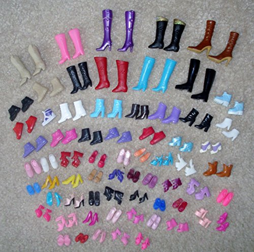 Image of 12 Pairs Creative Combination BARBIE Doll SHOES