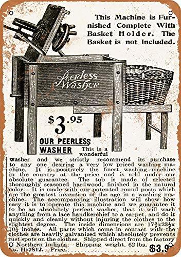 Yohoba Peerless Washing Machine Vintage Look Metallschilder 30,5 x 45,7 cm Peerless Wand
