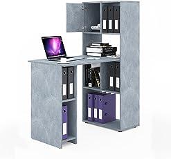 Entzuckend VICCO Schreibtisch Regalkombination 144cm Höhe Arbeitstisch Regal Ordner  Akten Büro PC Tisch   Perfekt Für