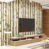 Papier peint moderne simple élégant fonds d'écran Muralpapel abstrait non tissé papier mural Home Decor pour chambre à coucher Salon TV Fond mural 0.53m (52,8cm) * 10m (32,8') = 5.3sqm (89sqfeet), Wallpaper only, Beige