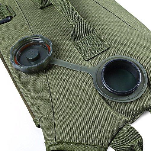 3L leicht Wasser Kantine Tasche Rucksack mit Schlauch für die Jagd Klettern Laufen und Wandern armee-grün