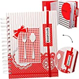 alles-meine GmbH Dickes - Kochbuch & Backbuch / Rezeptbuch -  Besteck & rote Punkte  __ 340 Seiten - A5 - zum selberschreiben - mit Register - Ordner / Spiralbindung - Album..
