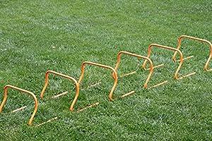 agility sport pour chiens - lot de 6 mini-haies, hauteur: 30 cm