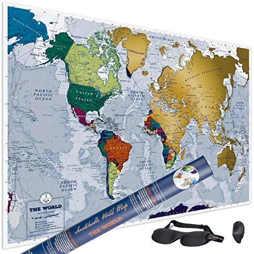 Mapa Mundi Rascar más grande 84x59cm más destinos