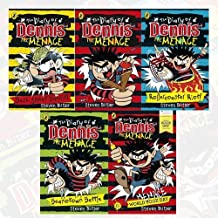 Steven Butler The Diary of Dennis the Menace Series 5 Books Collection Set Pack(The Diary of Dennis the Menace,Beanotown Battle,Rollercoaster Riot,Bash Street Bandit ,World Menace Day)