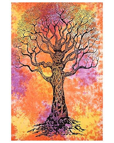 Tie Dye Tree Tapiz árbol de la vida Tapestry Pared Hangin indio tapices bohemio tapiz playa manta hippie tapices dormitorio