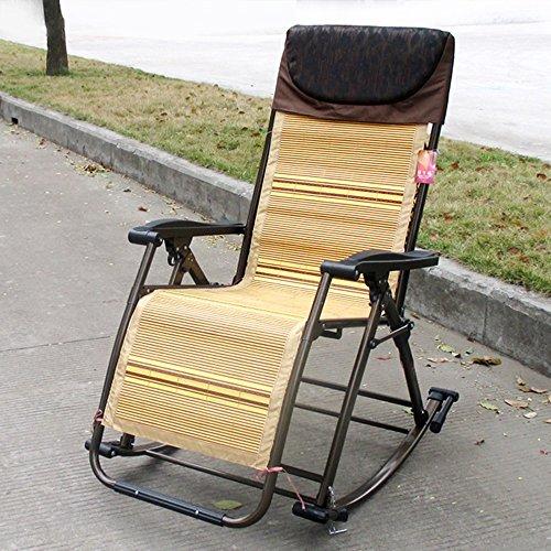 ZYX Stühle KFXL yizi Multifunktionsbewehrung Praktischer Klappstuhl/Alter Mann-Garten-Balkon-beiläufiger Schaukelstuhl/bequemer Breathable Recliner/Siesta-Rückenlehne-Stuhl (Farbe : D)