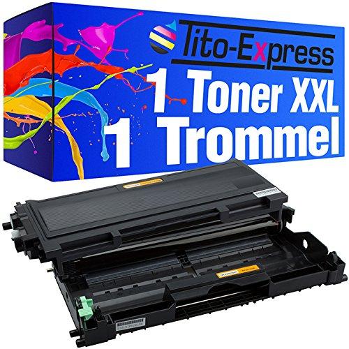 Preisvergleich Produktbild 1x Laser-Toner & Trommel XXL Schwarz kompatibel für Brother TN2000 & DR-2000 HL-2020 HL-2030 HL-2032 HL-2040 HL-2050 HL-2070 PlatinumSerie