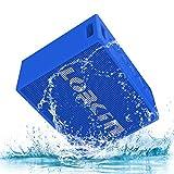 Haut-parleur sans fil portable Bluetooth, LOBKIN enceinte bluetooth 4.2 auto-haut-parleurs avec pilote audio 5W, IPX6 Résistant à l'eau Bluetooth V4.1 Haut-parleur HiFi avec basses améliorées, 8 heures de temps de jeu, pour l'extérieur et l'intérieur (bleu)