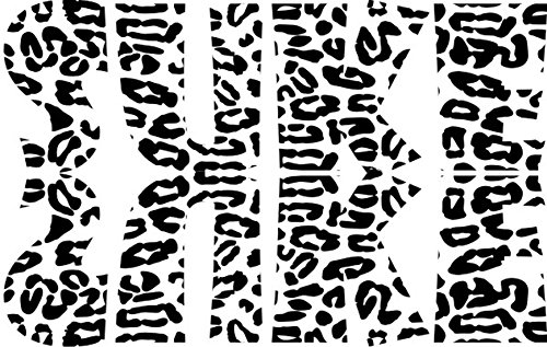 T-Shirt E340 Schönes T-Shirt mit farbigem Brustaufdruck - Logo / Grafik - abstraktes Design / getigerter Schriftzug Mehrfarbig