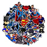 Top Stickers ! Lot de 45 Petits Stickers Superman et Batman - Finition Comics - Autocollants HD Non Vulgaires - Bomb, Super Heros, Marvel - Customisation, Scrapbooking, personnalisation...