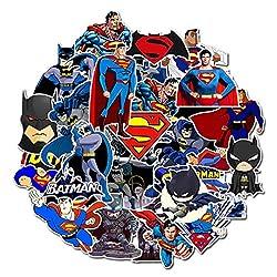 ⭐Top Aufkleber! ⭐ Set von 45 Kleine Superman und Batman Aufkleber - Comics Qualität - Vinyls Stickers Nicht Vulgär - Bomb, Superhelden, Superheld, Marvel - Anpassung, Scrapbooking, Bullet Journal